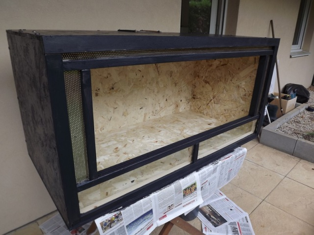 terrarium de mes pantherophis. Black Bedroom Furniture Sets. Home Design Ideas