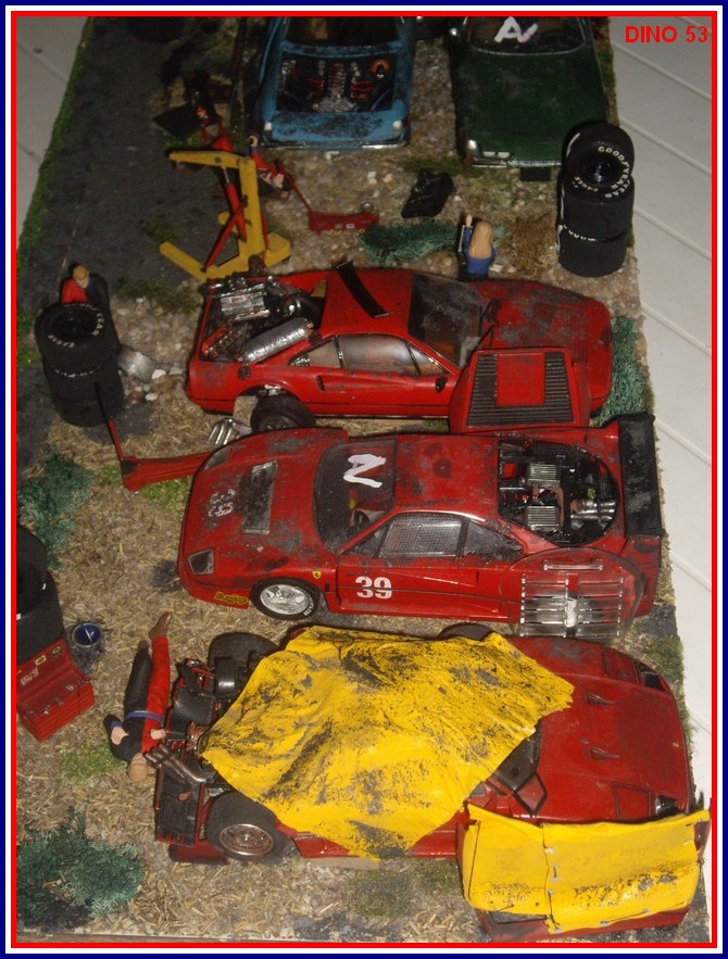 diorama casse automobile de prestige chelle 1 24 me. Black Bedroom Furniture Sets. Home Design Ideas
