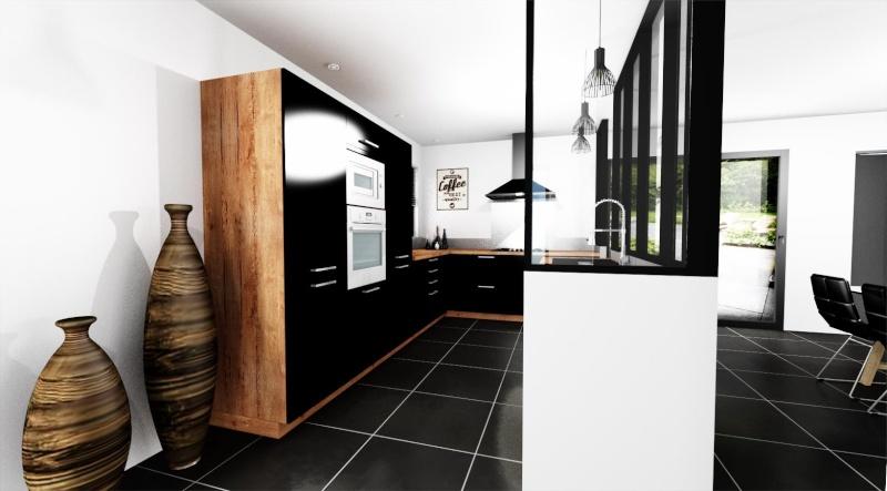 cuisine avec verriere. Black Bedroom Furniture Sets. Home Design Ideas