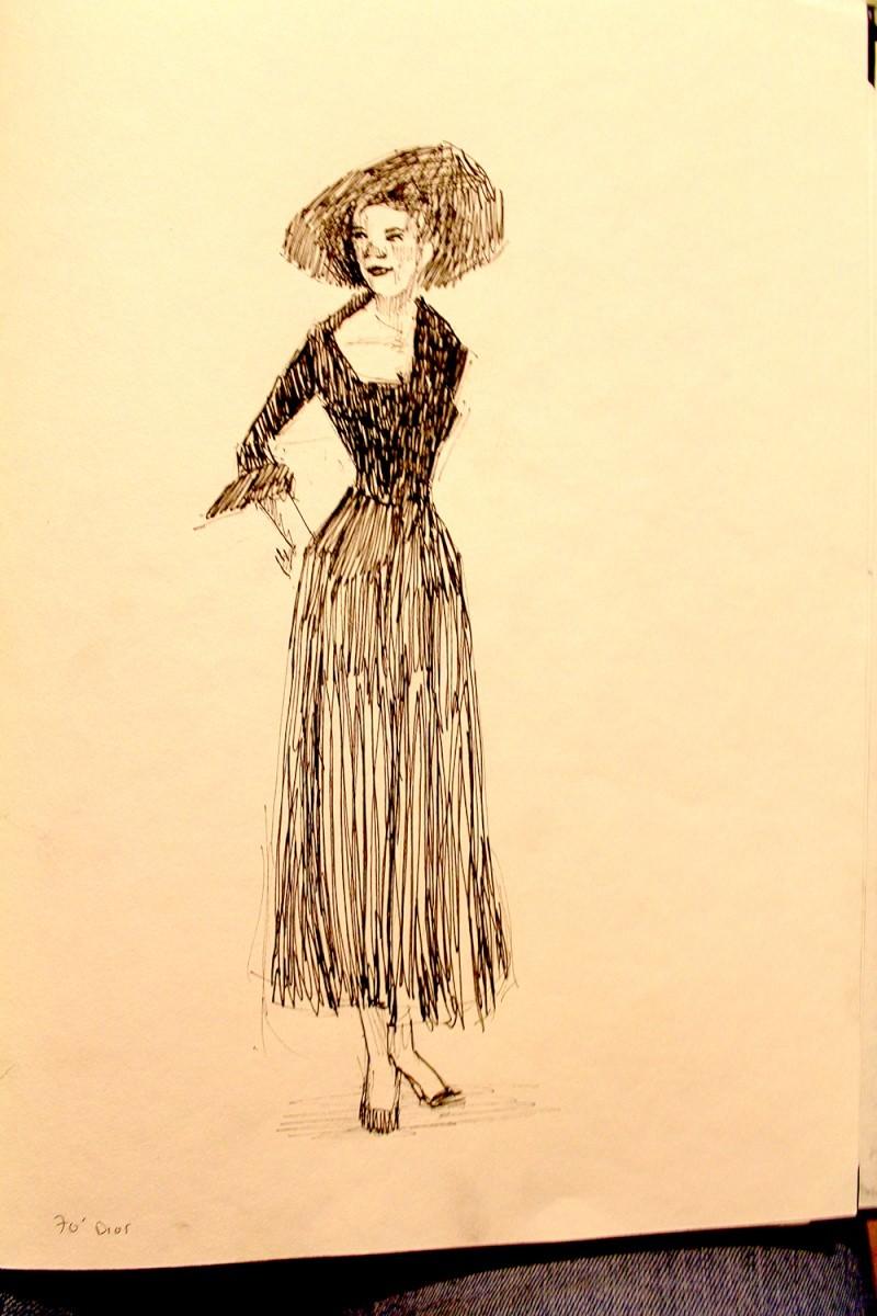 croquis femme fashion