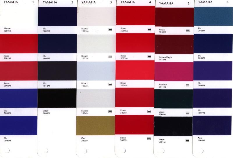 Code peinture yamaha dit 50 2m5 - Les differentes nuances de rouge ...