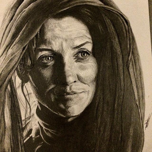 dessin portrait Mme Stark