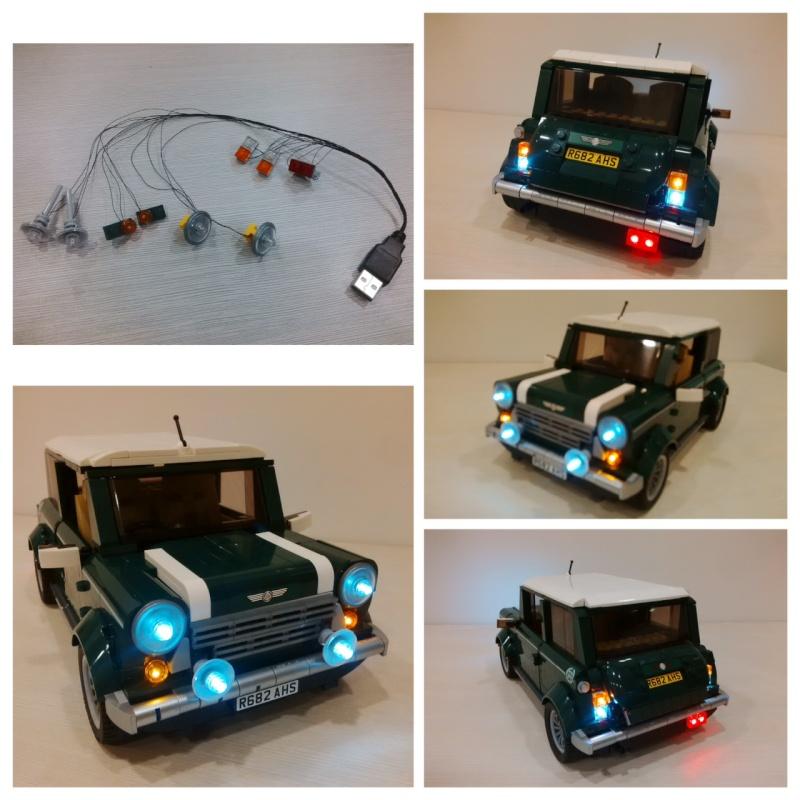 lego model 10242 mini cooper lighting kit released. Black Bedroom Furniture Sets. Home Design Ideas