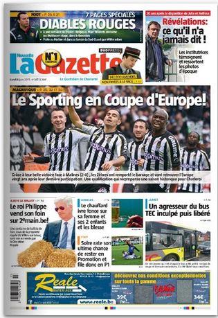 La nouvelle gazette du 01-06-2015 Belgique