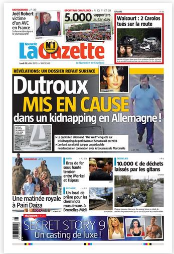 La nouvelle gazette du 13-07-2015 Belgique