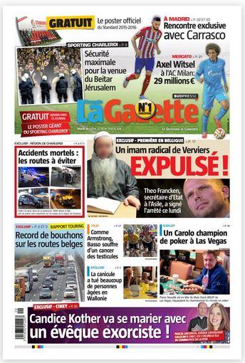 La nouvelle gazette du 14-07-2015 Belgique