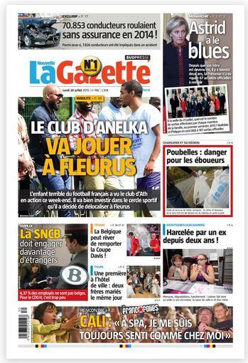 La nouvelle gazette du 20-07-2015 Belgique