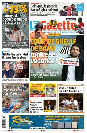 La nouvelle gazette du 18-08-2015 Belgique