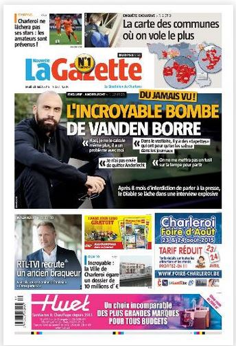 La nouvelle gazette du 20-08-2015 Belgique