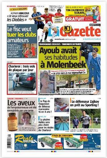 La nouvelle gazette du 26-08-2015 Belgique
