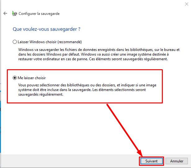 Sélectionnez ensuite Panneau de configuration > Sauvegarde et restauration (Windows 7). ... pour effectuer une sauvegarde sur un lecteur ... pouvons faire pour ...