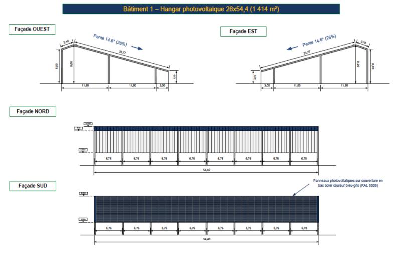 Hangar photovoltaique page 11 for Plan de hangar