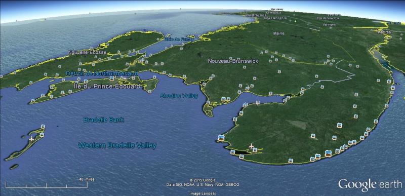 carte gps fleuve st-laurent