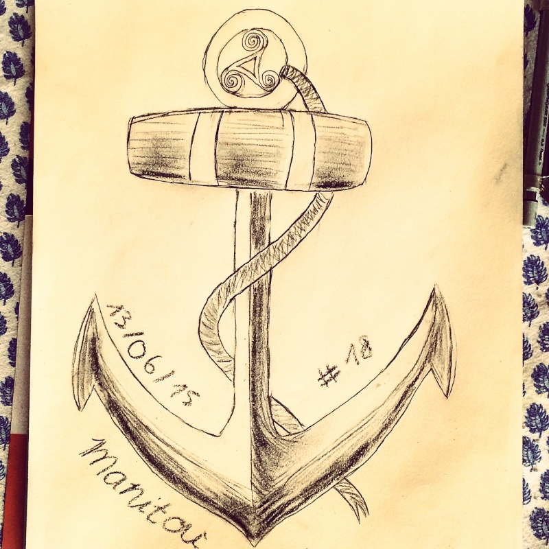 croquis ancre bateau