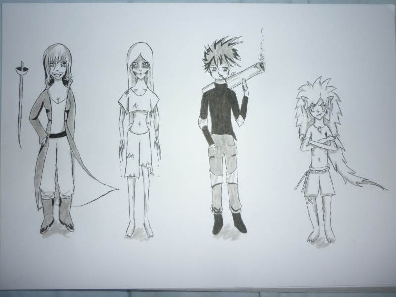 dessin personnages face