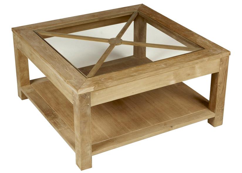 Rallonge de table de combinee table basse avec inclusion for Table de salon bois verre versailles