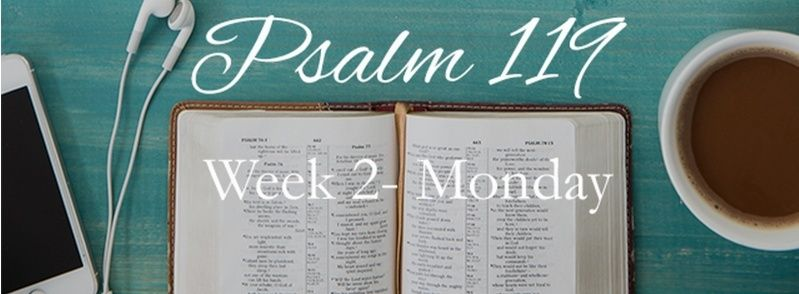 Week 2 Psalm 119 JULY 13-19
