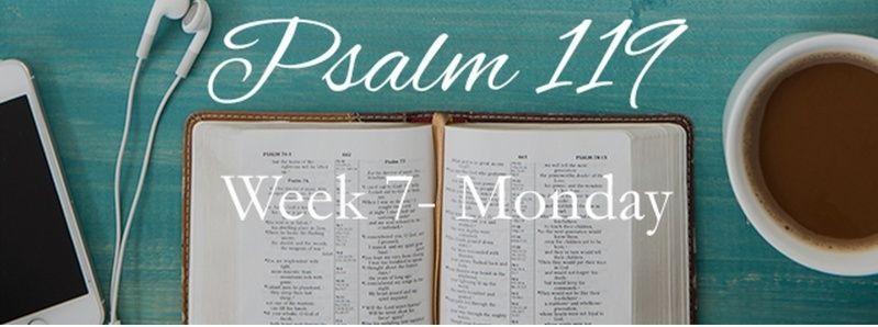 Week 7 Psalm 119 August 17-23