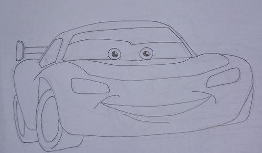dessin cars crayon