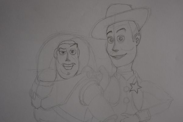 dessin toy story crayon