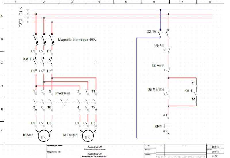 branchement commutateur inverseur l 39 aide. Black Bedroom Furniture Sets. Home Design Ideas