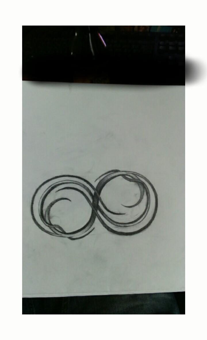 dessin tribal infini