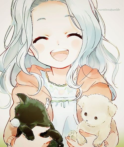 Image result for anime fille cheveux blanc