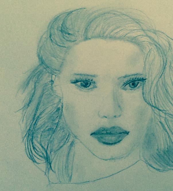 dessin portrait femme